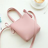 baratos Bolsas de Ombro-Mulheres Bolsas PU Bolsa de Ombro Botões Geométrica Rosa