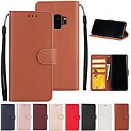 Carcasă Pro Samsung Galaxy S9 / S7 edge Peněženka / Pouzdro na karty / se stojánkem Celý kryt Jednobarevné Pevné PU kůže pro S9 / S9 Plus / S8 Plus