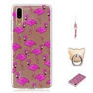 billiga Mobil cases & Skärmskydd-fodral Till Huawei P20 Mönster Skal Flamingo Mjukt TPU för Huawei P20