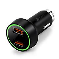 billiga Billaddare för mobilen-Bilar Bil USB-laddare Socket 2 USB-portar for 12 V