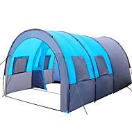 8 personne Tente Tunnel Tente de camping familiale Extérieur Poids Léger Coupe Vent Respirabilité Couche Simple Barre Tunnel Tente de camping 1000-1500 mm pour Pêche Camping / Randonnée / Spéléologie