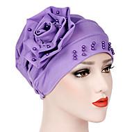 สำหรับผู้หญิง สีพื้น ลูกปัด, พื้นฐาน / วันหยุด - หมวกปีกกว้าง