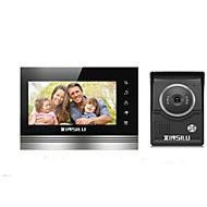 billige Dørtelefonssystem med video-XINSILU XSL-V70K-L+,black 7 tommers Håndfri 800*480 pixel En Til En Video Dørtelefon