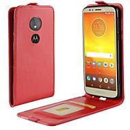 billiga Mobil cases & Skärmskydd-fodral Till Motorola MOTO G6 / Moto G6 Play Korthållare / Lucka Fodral Enfärgad Hårt PU läder för Moto X4 / MOTO G6 / Moto G6 Play