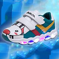 baratos Sapatos de Menina-Para Meninos / Para Meninas Sapatos Couro Ecológico Outono & inverno Conforto / Tênis com LED Tênis Velcro / LED para Infantil Branco / Verde / Rosa claro