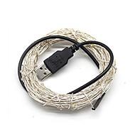 billiga Belysning-5m Ljusslingor 50 lysdioder Varmvit / Kallvit / RGB USB / Dekorativ USB Powered 1st