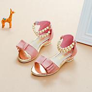 baratos Sapatos de Menina-Para Meninas Sapatos Camurça Verão Conforto / Sapatos para Daminhas de Honra Sandálias Caminhada Pérolas Sintéticas para Infantil Preto /