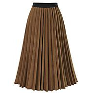 Dame Bomuld Gynge Nederdele - I-byen-tøj Ensfarvet Flettet