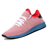 baratos Sapatos Masculinos-Homens Tecido elástico Verão Conforto Tênis Caminhada Branco / Rosa claro / Branco / Preto