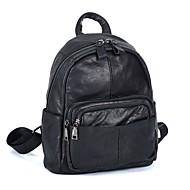 billige Skoletasker-Unisex Tasker Læder Skoletaske Lynlås Geometrisk Sort