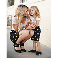 Mommy og mig Prikker Kortærmet Kjole