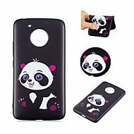billiga Mobil cases & Skärmskydd-fodral Till Motorola G5 Mönster Skal Panda Mjukt TPU för Moto G5