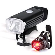 זול -פנס קדמי לאופניים / פנס אחורי לאופניים LED רכיבת אופניים נייד / עמיד במים / קל משקל Li-ion 500 lm Lumens לבן רכיבה על אופניים
