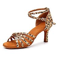 billiga Dansskor-Dam Skor till latindans Satäng Sneaker Leopard Slim High Heel Går att specialbeställas Dansskor Leopard