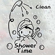 رخيصةأون -ملصقات وأشرطة / زخارف حوض الاستحمام / ملصقات الحمام تصميم جديد / ضد الماء / اللصق التلقي العادي / الحديثة / المعاصرة PVC 1PC ديكور الحمام