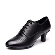 billige Kustomiserte dansesko-Dame Moderne sko Nappa Lær Høye hæler Kubansk hæl Kan spesialtilpasses Dansesko Svart