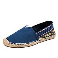 baratos Sapatos Masculinos-Homens Alpercatas Linho Verão Mocassins e Slip-Ons Caminhada Estampa Colorida Verde / Azul