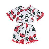 Baby Pige Blomstret Kortærmet Tøjsæt