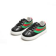baratos Sapatos de Menina-Para Meninas Sapatos Couro Ecológico Primavera Verão Conforto Tênis Caminhada para Infantil Branco / Preto