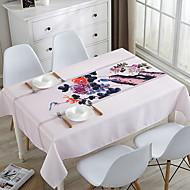 billige Duker-Klassisk / Fritid 100g / m2 Polyester Strik Stretch Kvadrat Duge Ensfarget / Blomstret Borddekorasjoner 1 pcs
