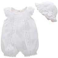 Baby Pige Basale Ensfarvet Uden ærmer Polyester En del Hvid 59