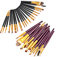 20pcs Četke za šminku profesionalac Umjetna vlakna četkice Eco-friendly / Profesionalna / Nježno Drveni / bambus