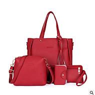 Χαμηλού Κόστους Saving Sales-Γυναικεία Τσάντες PU Σετ τσάντα 4 σετ Σετ τσαντών Φερμουάρ / Φούντα Πράσινο του τριφυλλιού / Ρουμπίνι / Χακί