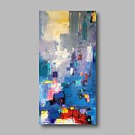 voordelige -Hang-geschilderd olieverfschilderij Handgeschilderde - Abstract / Landschap Hedendaags Kangas