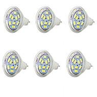 billige Spotlys med LED-6pcs 1.5 W 250 lm MR11 LED-spotpærer MR11 9 LED perler SMD 5730 Kjølig hvit