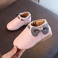 baratos Sapatos de Menina-Para Meninas Sapatos Couro Ecológico Outono & inverno Conforto / Botas da Moda Botas Caminhada Laço para Infantil Bege / Cinzento / Rosa claro / Botas Curtas / Ankle