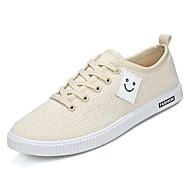 tanie Obuwie męskie-Męskie Komfortowe buty Len Lato Adidasy Biały / Czarny / Beżowy