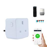 tanie Ulepszanie domu-Gniazdko Funkcja czasowa / Łatwy w użyciu / Wymagany No-Hub 1 opakowanie ABS + PC / 750 ° C Z wtyczką Wi-Fi włączone / APP / Kontroler głośności Amazon Alexa Echo / Asystent Google
