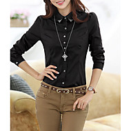 women's work shirt - solid colored stand