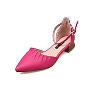 baratos Sapatos Femininos-Mulheres Sapatos Couro Ecológico Verão D'Orsay Saltos Caminhada Salto Cubano Dedo Apontado Bege / Amarelo / Fúcsia