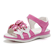 baratos Sapatos de Menina-Para Meninas Sapatos Couro Ecológico Verão Conforto / Sapatos para Daminhas de Honra Sandálias Caminhada Flor para Infantil Branco /