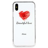 billiga Mobil cases & Skärmskydd-fodral Till Apple iPhone X / iPhone 8 Ultratunt Skal Leka med Apple-loggan / Ord / fras / Hjärta Mjukt TPU för iPhone X / iPhone 8 Plus / iPhone 8