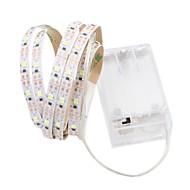 billiga Belysning-1m Flexibla LED-ljusslingor 60 lysdioder 2835 SMD Varmvit / Vit Klippbar / Dekorativ / Självhäftande AA Batterier Drivs 1st