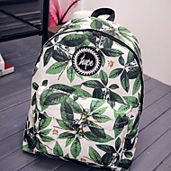 baratos Mochilas-Mulheres Bolsas Tela de pintura mochila Estampa / Ziper Verde
