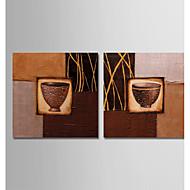 billiga Stilleben-Hang målad oljemålning HANDMÅLAD - Abstrakt / Stilleben Moderna Inkludera innerram / Sträckt kanfas