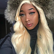 Włosy virgin Siateczka z przodu Peruka Minaj styl Włosy peruwiańskie Falowana Body wave Blond Peruka 150% Gęstość włosów z Baby Hair Naturalna linia włosów 100% Dziewica Nieprzetworzony Blond Damskie