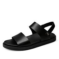 Męskie Komfortowe buty Skóra bydlęca Lato Sandały Czarny / Brązowy / Na zewnątrz