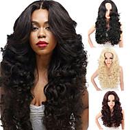 Συνθετικές Περούκες Γυναικεία Κυματιστό Μαύρο Μέσο μέρος Συνθετικά μαλλιά Ανθεκτικό στη Ζέστη / συνθετικός / Περούκα αφροαμερικανικό στυλ Μαύρο / Μπορντώ Περούκα Μακρύ Χωρίς κάλυμμα / Ναι