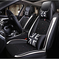 cheap Happy New Year2019-ODEER Car Seat Cushions Seat Covers Black / White Textile / Artificial Leather Common for universal All years All Models