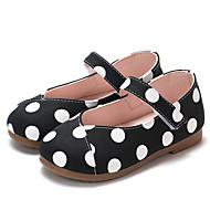baratos Sapatos de Menina-Para Meninas Sapatos Couro Ecológico Primavera Verão Conforto / Sapatos para Daminhas de Honra Rasos Caminhada Velcro para Infantil Branco / Preto / Amarelo