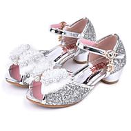 baratos Sapatos de Menina-Para Meninas Sapatos Glitter Primavera / Verão Conforto / Inovador / Sapatos para Daminhas de Honra Sandálias Pedrarias / Laço / Miçangas para Dourado / Prata / Rosa claro / Peep Toe / Casamento