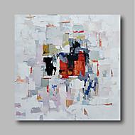 billiga Abstrakta målningar-Hang målad oljemålning HANDMÅLAD - Abstrakt Samtida / Moderna Duk