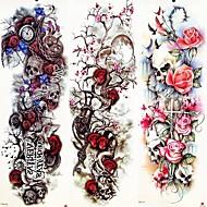 3 pcs midlertidige Tatoveringer Glatt klistremerke / Økovennlig / Til engangsbruk brachium / Bein Kort Papir / Decal-stil midlertidige tatoveringer