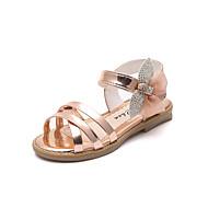 baratos Sapatos de Menina-Para Meninas Sapatos Couro Ecológico Primavera Verão Conforto Sandálias Caminhada Gliter com Brilho / Velcro para Adolescente Cinzento / Rosa claro / Champanhe