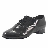 billige Moderne sko-Gutt Moderne sko / Ballett Lakklær Høye hæler Tykk hæl Dansesko Svart