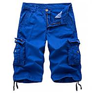 Erkek Sokak Şıklığı / Askeri Chinos / Şortlar / Kargo pantolon Pantolon - Solid Koyu Gri